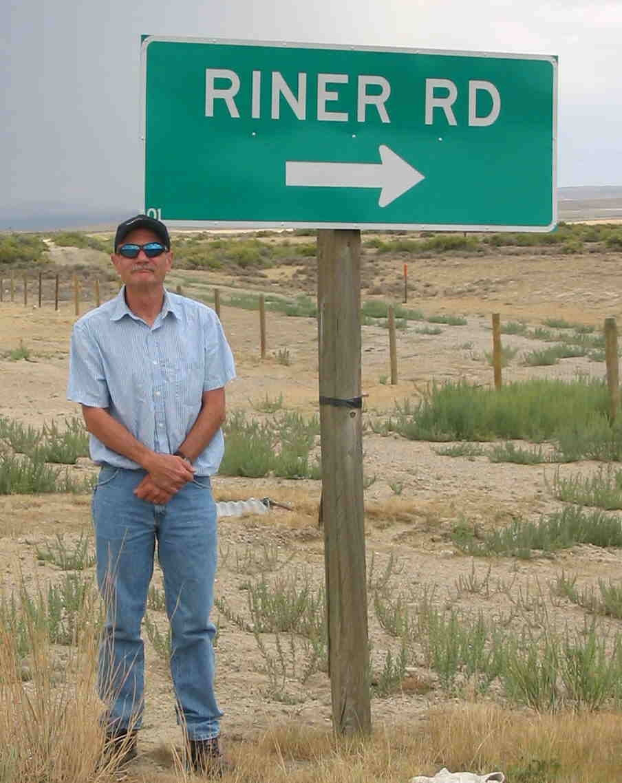 Me at Riner Road exit off I-80, Wyoming
