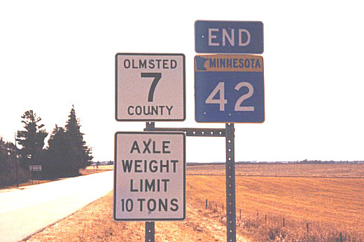 S. jct. MN-42 at I-90/Olmsted CSAH 7