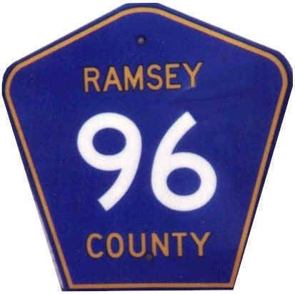 Pentagonal Ramsey County 96 sign
